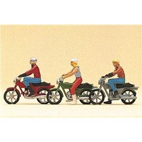 Preiser 10126 Unga motorcyklister, 3 st