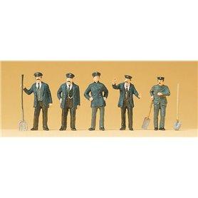 Preiser 12191 Tågpersonal, 1890-1925-tals klädda, 5 st
