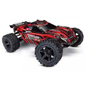 Traxxas 67064-1-RED Rustler 4x4 XL-5 1/10 RTR TQ med Batteri & Laddare Röd