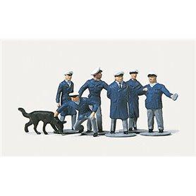 Merten N 2246 Polismän med hund, 6 st