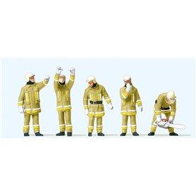 Preiser 10772 Brandmän i modern uniform, 5 st