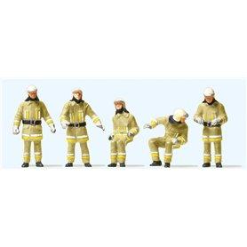 Preiser 10773 Brandmän i modern uniform, 5 st