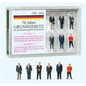Preiser 13400 Tyska ledare (1949-2019), 6 st