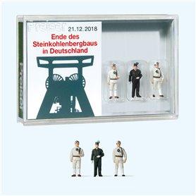 """Preiser 13401 Figurer """"End of coal mining in Germany"""", 3 st"""