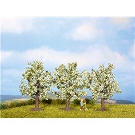 Noch 25511 Fruktträd, 3 st, vitblommande, ca 4,5 cm hög