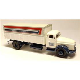 """Brekina 85605.1 Volvo N88 med flak och kapell """"Volvo System Service - Trucks Express Parts Delivery"""""""