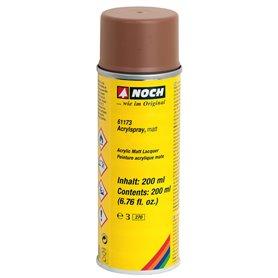 Noch 61173 Akrylspray, matt, brun, 200 ml i sprayburk, för underarbet