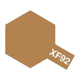 Tamiya 81792 XF-92 Yellow Brown, 10 ml, burk med skruvlock. Tamiya Akrylfärg. XF92