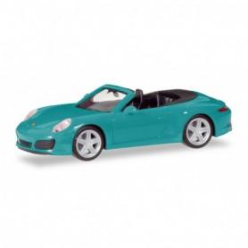 Herpa 028844-002 Porsche 911 Carrera 2 Cabrio, miami blue
