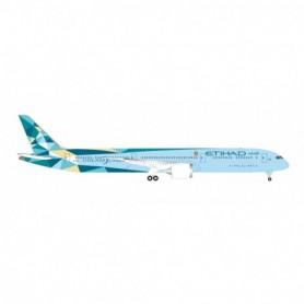 Herpa Wings 534420 Flygplan Etihad Airways Boeing 787-10 Dreamliner 'Greenliner'