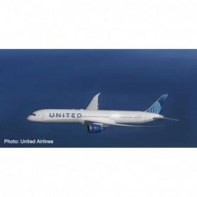 Herpa Wings 534321 Flygplan United Airlines - new Colors, Boeing 787-10 Dreamliner