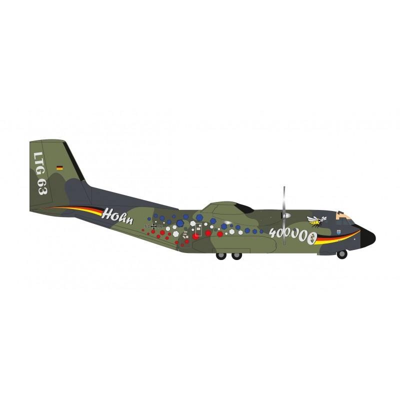 "N Herpa 570909-1//200 Luftwaffe LTG 63 /""400.000 Flugstunden/"" Transall C-160"