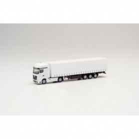 Herpa 013796 Herpa Minikit Mercedes-Benz Actros curtain canvas semitrailer, white