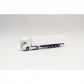 Herpa 013802 Herpa Minikit Scania R TL box semitrailer, white
