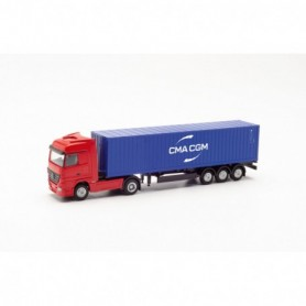 Herpa 066808 Mercedes-Benz Actros container trailer 'CMA | CGM'