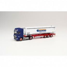 Herpa 312004 DAF XF SSC Euro 6 pressure bulk container semitrailer 'Greiwing' (Nordrhein-Westfalen Greven)