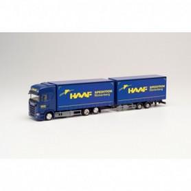 Herpa 312028 Scania CS 20 HD volume trailer 'Haaf Spedition'(Rheinland-Pfalz|Römerberg)