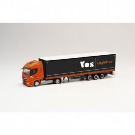 Herpa 312110 Iveco Stralis NP lowliner semitrailer 'VOS Logistics' (Niederlande|Oss)