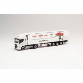 Herpa 312257 Iveco Stralis NP 460 refrigerated box trailer 'Müller Fleisch' (Baden-Württemberg|Birkenfeld)