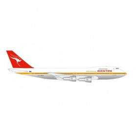 "Herpa Wings 534482 Flygplan Qantas Boeing 747-200 – Centenary Series – VH-EBB ""City of Melbourne"""