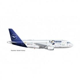 "Herpa Wings 612739 Flygplan Lufthansa Airbus A319 ""Lu"" – D-AILU ""Verden"""