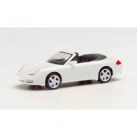 Herpa 032674-002 Porsche 996 C4 Cabrio, carrara white metallic