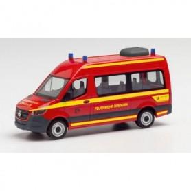 """Herpa 095488 Mercedes-Benz Sprinter 18 Bus HD """"Feuerwehr Dresden"""""""