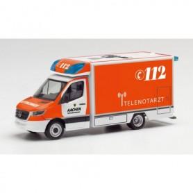 "Herpa 095495 Mercedes-Benz Sprinter 18 Fahrtec ambulance ""Telenotarzt Aachen"""