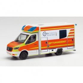 """Herpa 095570 Mercedes-Benz Sprinter 18 Fahrtec ambulance """"Rettungsdienst Dülmen"""""""