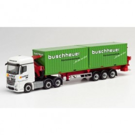 "Herpa 312059 Mercedes-Benz Actros Streamspace 18 2.5 6x2 Hammar container sideloader trailer ""Schmid Transporte Regensburg"""