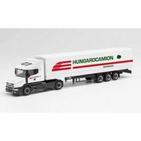 "Herpa 312080 Scania tarp semitrailer ""Hungarocamion"""