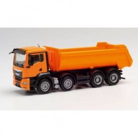 Herpa 312417 MAN TGS NN round trough dump truck 4-axle, communal orange