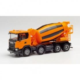 Herpa 312424 Scania CG 17 concret mixer 4-axle, communal orange