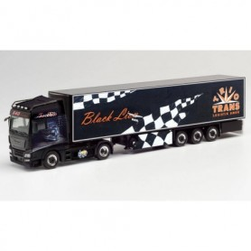"Herpa 312462 MAN TGX XXL refrigerated box trailer ""Trio-Trans | Black Lion"""