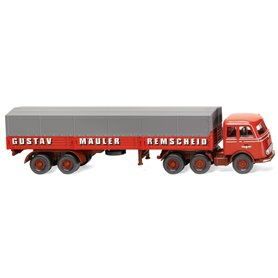 Wiking 48804 Flatbed tractor trailer (MB LPS 333)