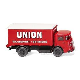"Wiking 47603 Box truck (Büssing 4500) ""Union Transport"""
