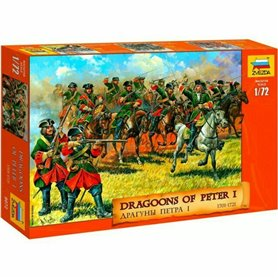 "Zvezda 8072 Figurer Dragoons of Peter 1 ""1701-1721"""