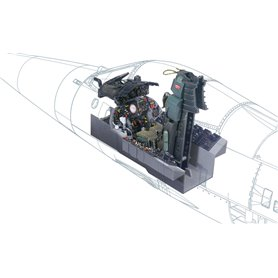 Italeri 2991 F-104 G Cockpit