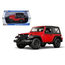 Maisto 31676 Jeep Wrangler 2014, röd