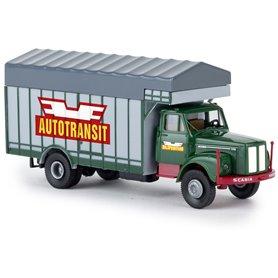 "Brekina 85132 Lastbil Scania L 111 ""Autotransit / Bilspedition"""
