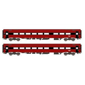 """ASM 188684 Vagnsset med 2 personvagnar typ NSB B7-4 och B7-5 """"Bergen"""""""