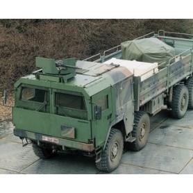 Roco 885 Camo MAN 464 Armoured Truck on Flat Wagon