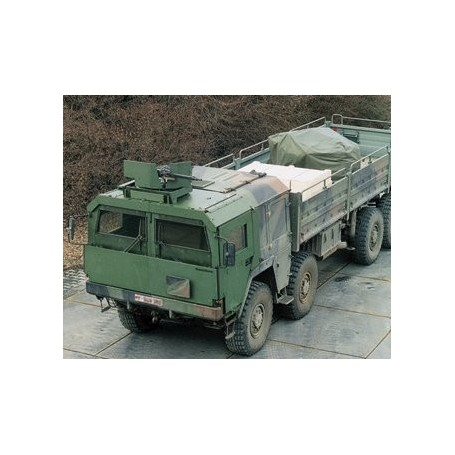 Roco 885 Camo MAN 464 Armoured Truck on Flat Wagon