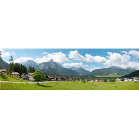 Vollmer 46106 Background setting Alpes, in 4 parts, 290 x 60 cm