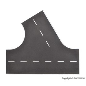 Vollmer 48264 Street plate asphalt of Stone Art, 60°-intersection to the left, L 22 x W 19,5 cm