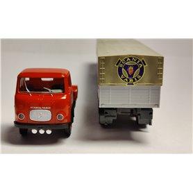 """AHM AH-568 Lastbil Scania LB 76, röd/grå """"Scania logga"""""""