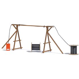 Busch 1375 Cable bridge with construction power distributor