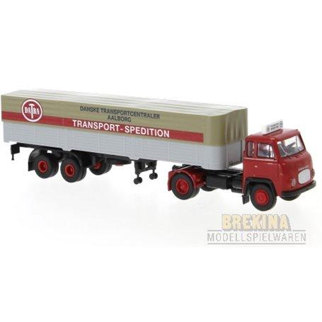 "Brekina 85172 Bil & Trailer Scania LB 76 ""Transport Spedition - Aalborg"""