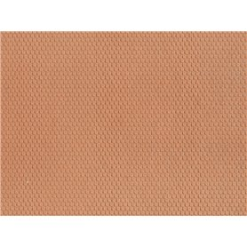 Noch 60360 Plain Tile, red, 28 x 10 cm