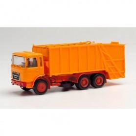 Herpa 013833 Herpa MiniKit. Roman Diesel press garbage truck, orange
